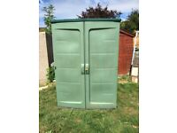 Garden storage unit tall green cupboard plastic shed patio storage outdoor