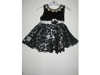 Brand New Party Girls Dress black