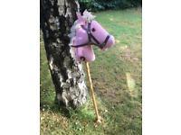 Vintage Hobby Stick Horse, Pink Polkadot, Excellent Condition, Wonderful Memories!