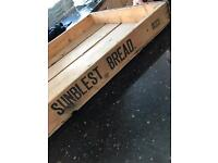 Sunblest vintage bread tray crate retro kitchen storage historic