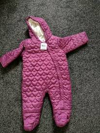 Baby snow suit brand new with tag 3-6 months