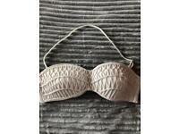 River Island Bikini Top Cream Swimwear