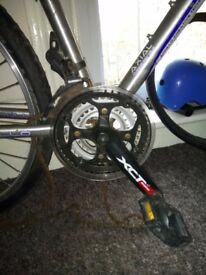 SR Suntour XCT - Alloy Chainsets crankset with pedals £10