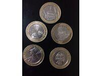 Very rare £2 coins ( 5 coins)