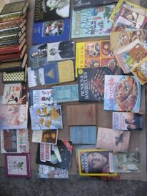 JOB LOT OF BOOKS & BOX OF JIGSAWS & VINTAGE MB GAME MB NEWSDESK ASSORTED JIGSAWS ROYAL FAMILY BOOKS