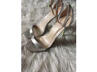Silver heeled shoe