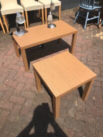 Large and small casual tables