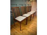 X4 Vintage mid century dining chairs Danish Gplan teak retro