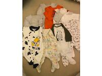 Baby sleepsuits size 0-3 months