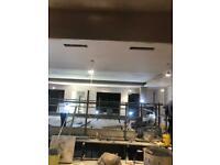 Plastering, silicone render, K. Render. Plasterboard fixer.