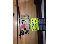 Job lot fishing tackle rods reels other bits