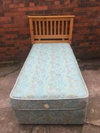 Good condition single divan bed only ££45 bargain