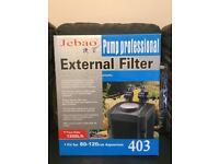 External filter and heater