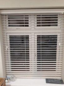 2 x white Sunwood blinds