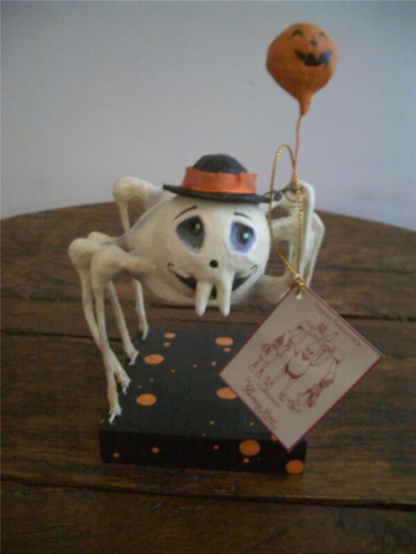 Bethany Lowe Halloween ~ Spider Skeleton Holding Jack O