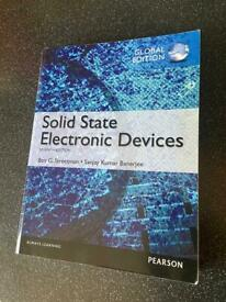Book: Solid state electronic devices