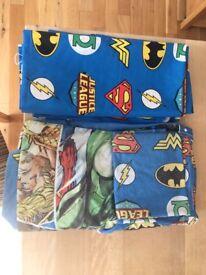Justice League curtains and double duvet set