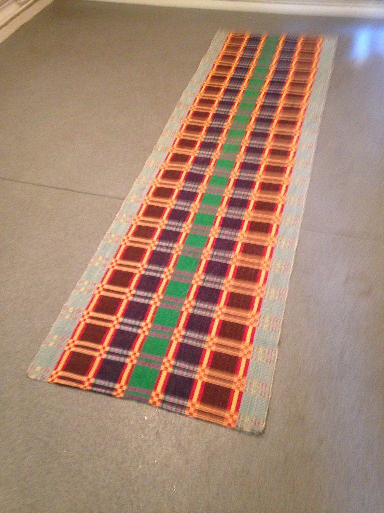 Long Rug Runner Chindi Rug - Hallway Rug - Multi Coloured