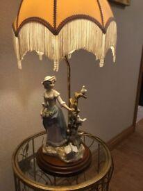 China figurine lamp
