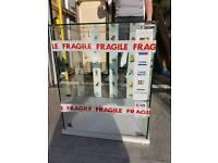 2 Glass display cabinets