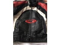 Genuine leather bike jacket.