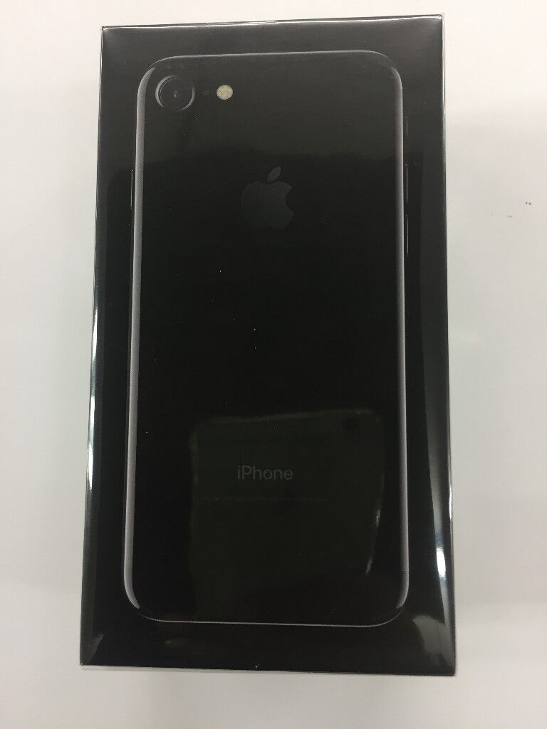 IPHONE 7G 32GB BRAND NEW SEALED JET BLACK 02/GIFFGAFF/TESCO NETWORK 12 MONTH WARRANTY