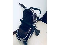 ICANDY Strawberry baby pram/ stroller set in black