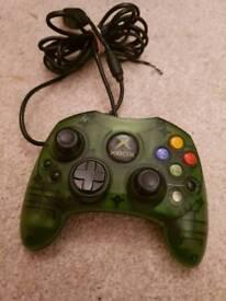 Halo green original Xbox controller