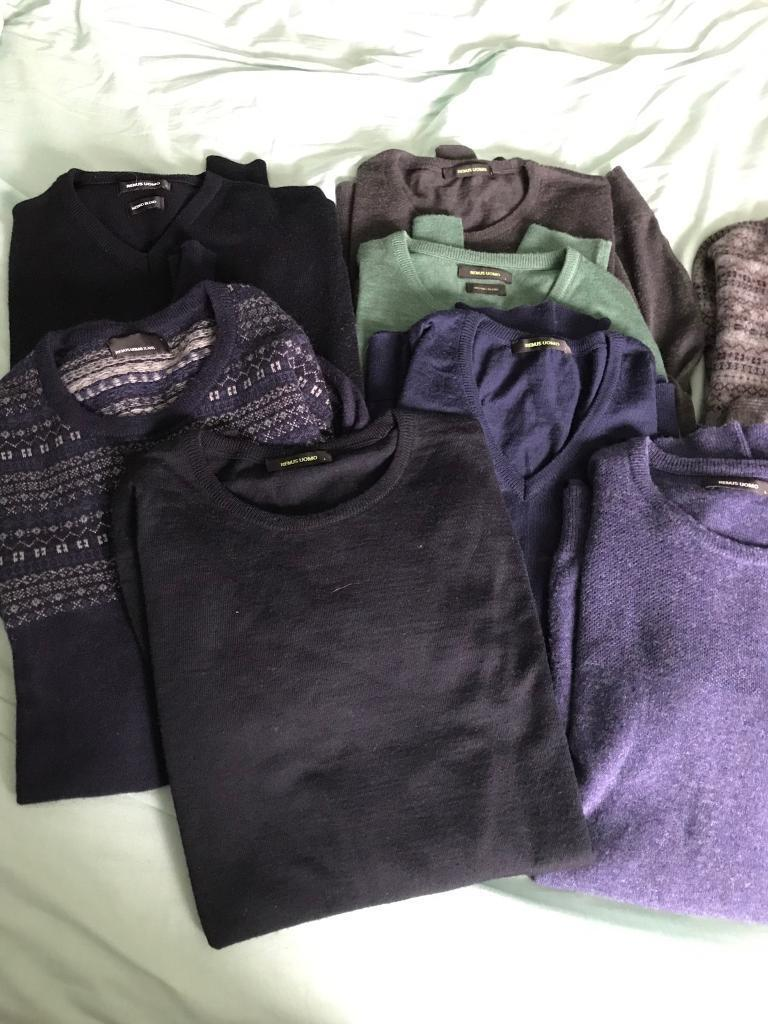 Selection of men's jumpers medium and large sim fit