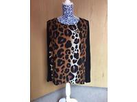 Kardashian Collection Leopard Print Chiffon Top - Size 12