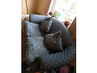 Good condition Blue 2 seater sofa