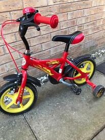 Boys bike with stabilisers