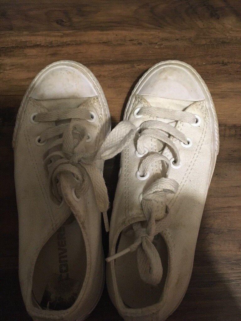 565ae3e08313 Converse All Star white plimsoll trainers size 11 (28.5 euro size)
