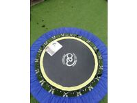 Mini trampoline 'Fitness mad' rebounder and workout dvd