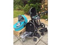 Oyster Max tandem/double pram plus accessories