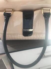 Ted baker black and cream bag