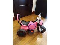 Kids Electric 6v 4.5AH Battery Powered Ride On 3 Wheel Trike Tricycle Motorbike