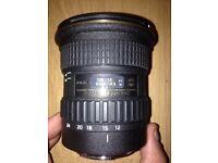 Tokina at-x pro as 12-24 f4 camera lens