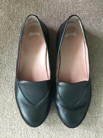 Camper Ambar black ladies flats slip on shoes loafers size 4 / 37