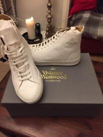 White Leather genuine vivienne westwood Men Shoes Size 10 Brand New