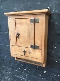 Fabulous vintage pine wall cupboard