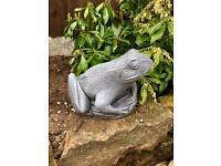 Heavy Stone Garden Frog Ornament