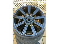 """21"""" Genuine """"Stormer"""" Land Rover/Range Rover alloy wheel set x4 VW T5 T6 Transporter"""