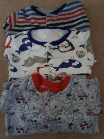 3 new 3-6 months sleepsuits