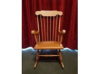 2nd hand vintage wood rocking chair