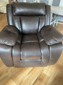 Beautiful Italian leather recliner chair FREE