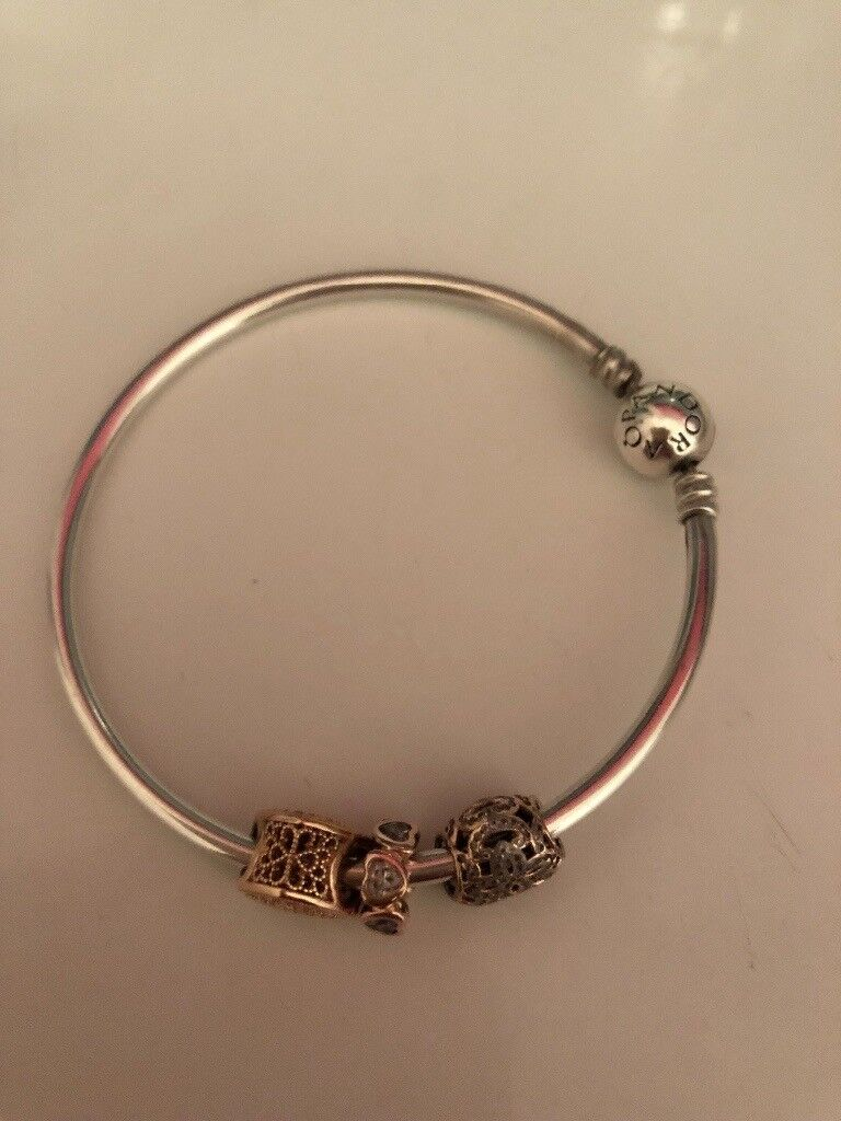 redditch gold in jewellery rose genuine bangles charm p bangle charms pandora and