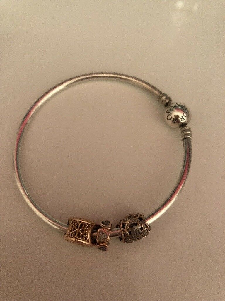 pink pandora xingjewelry bracelet products gold head charm clasp bangles bangle collections rose pcs charms with