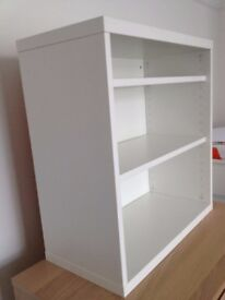 Wall shelving unit in white from IKEA