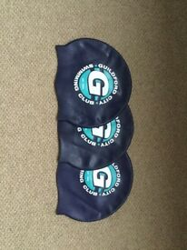 Guildford City Swimming Caps x 3
